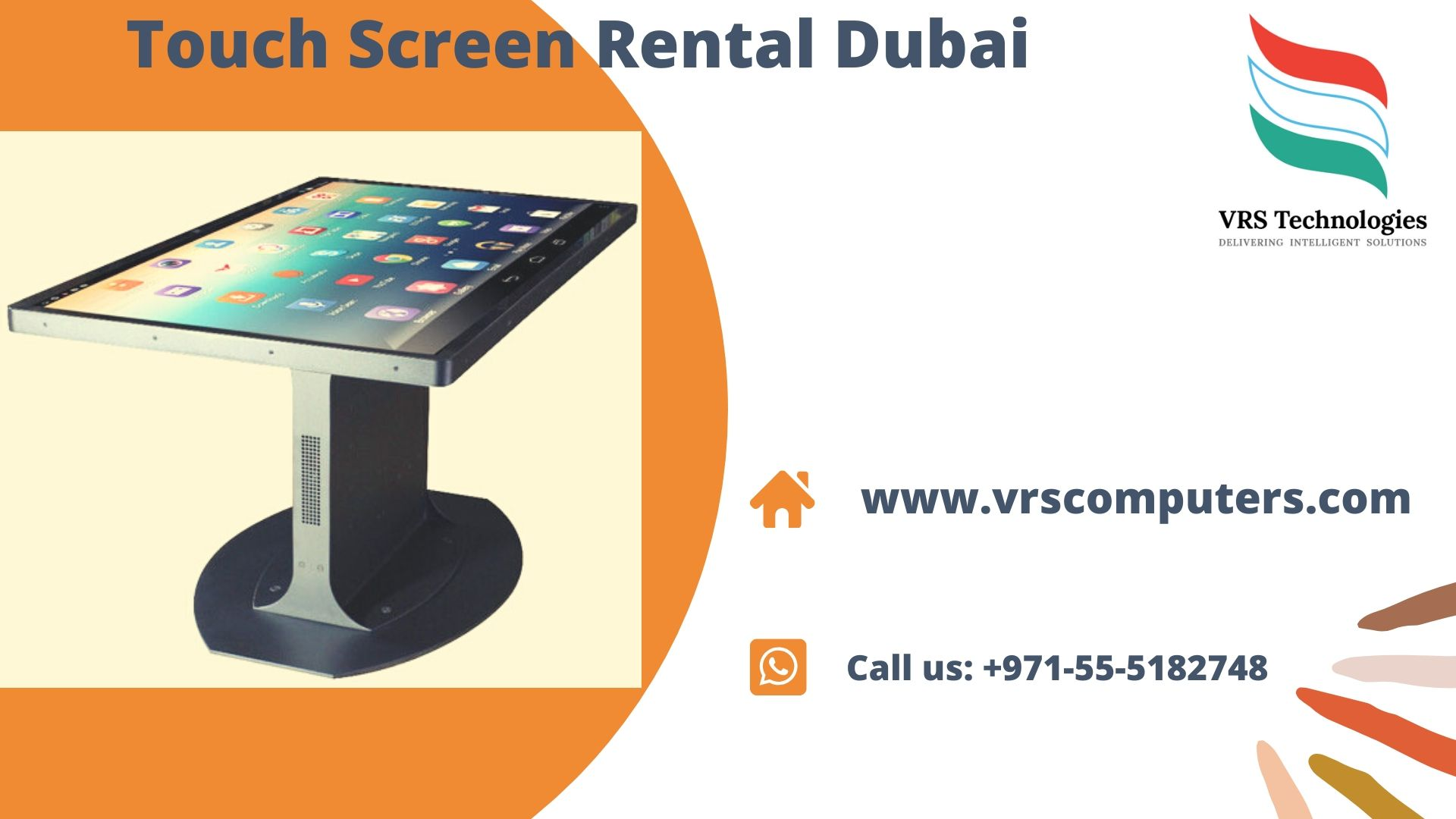 Touch Screen Hire Solutions in Dubai